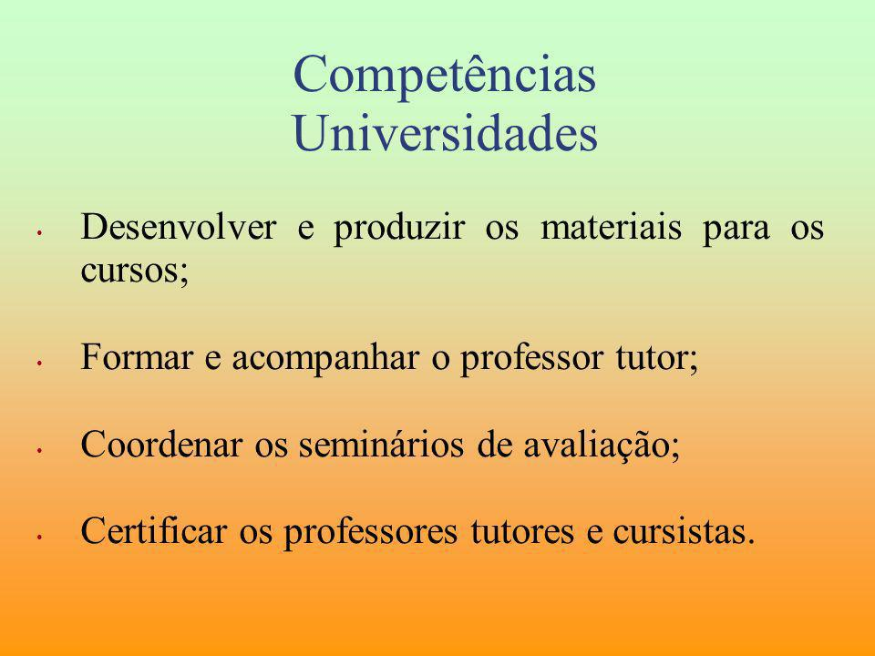 Competências Universidades