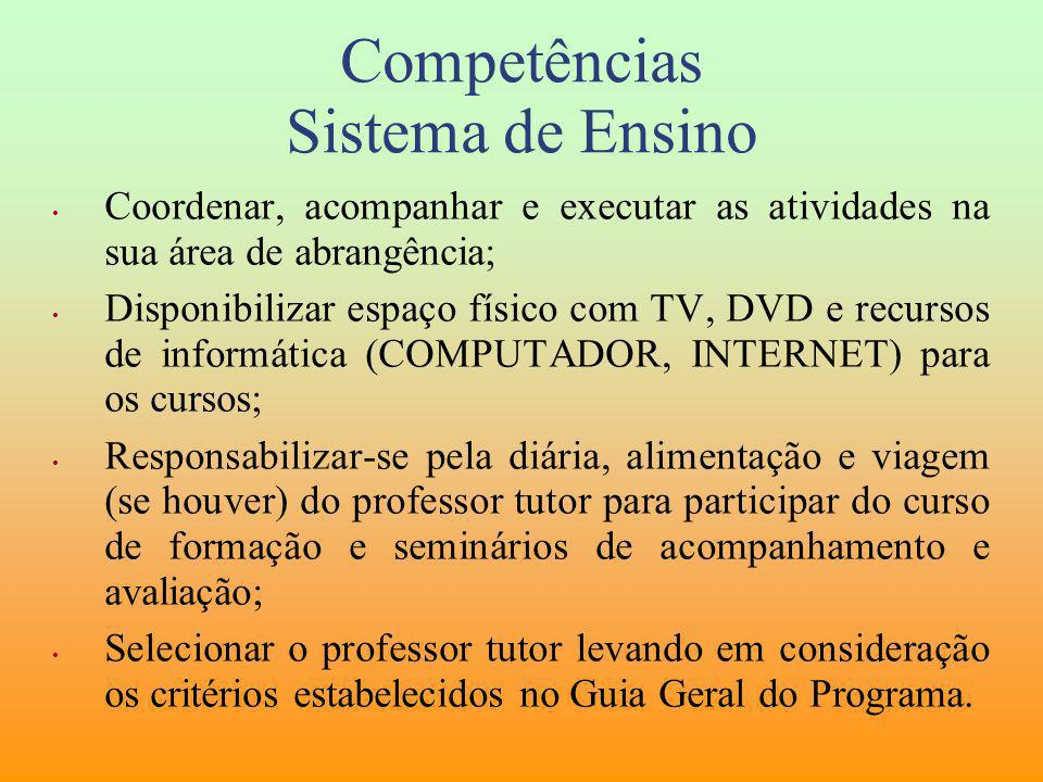Competências Sistema de Ensino