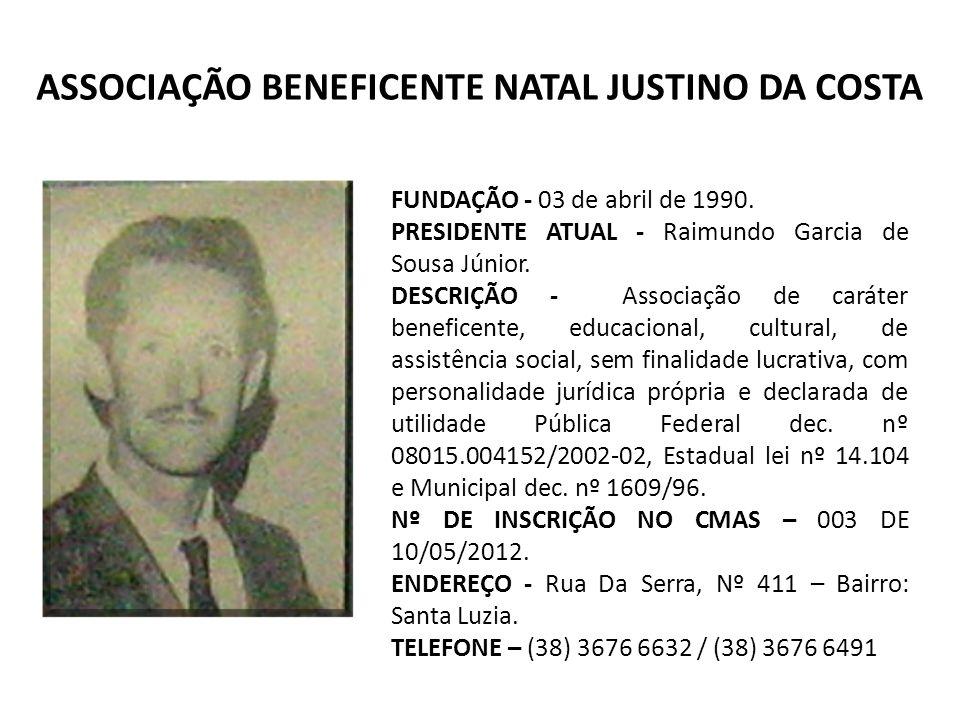 ASSOCIAÇÃO BENEFICENTE NATAL JUSTINO DA COSTA