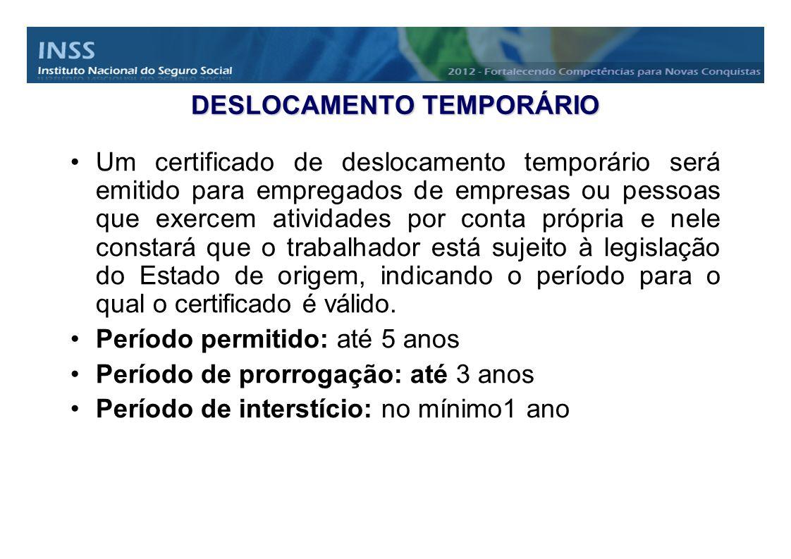 DESLOCAMENTO TEMPORÁRIO