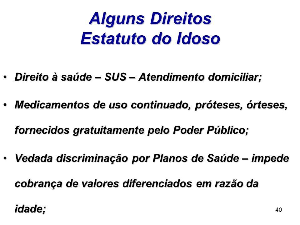 Alguns Direitos Estatuto do Idoso