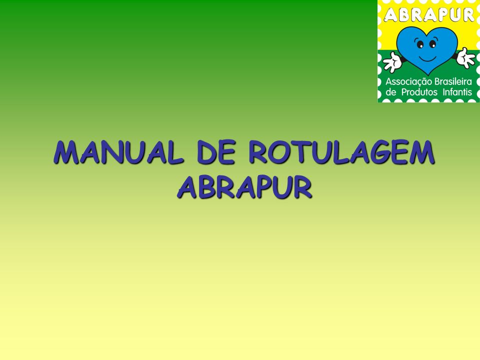 MANUAL DE ROTULAGEM ABRAPUR