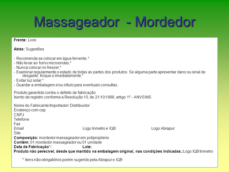 Massageador - Mordedor