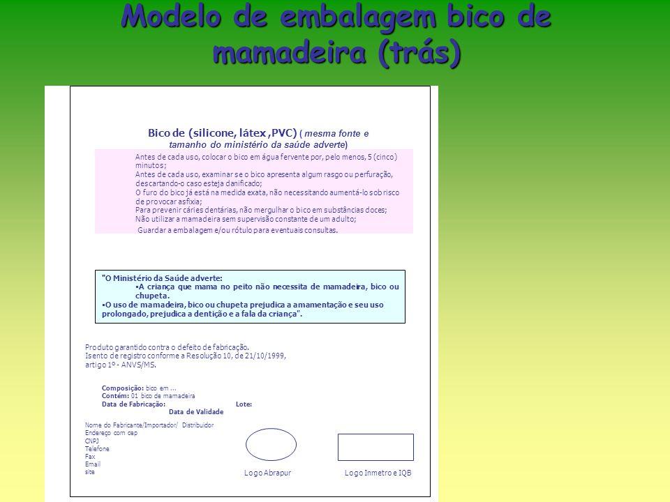 Modelo de embalagem bico de mamadeira (trás)