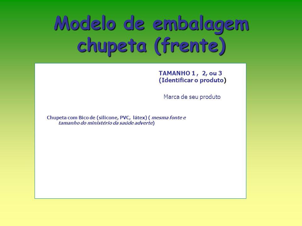Modelo de embalagem chupeta (frente)