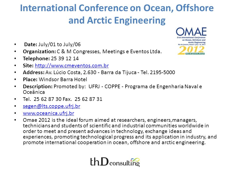 International Conference on Ocean, Offshore and Arctic Engineering