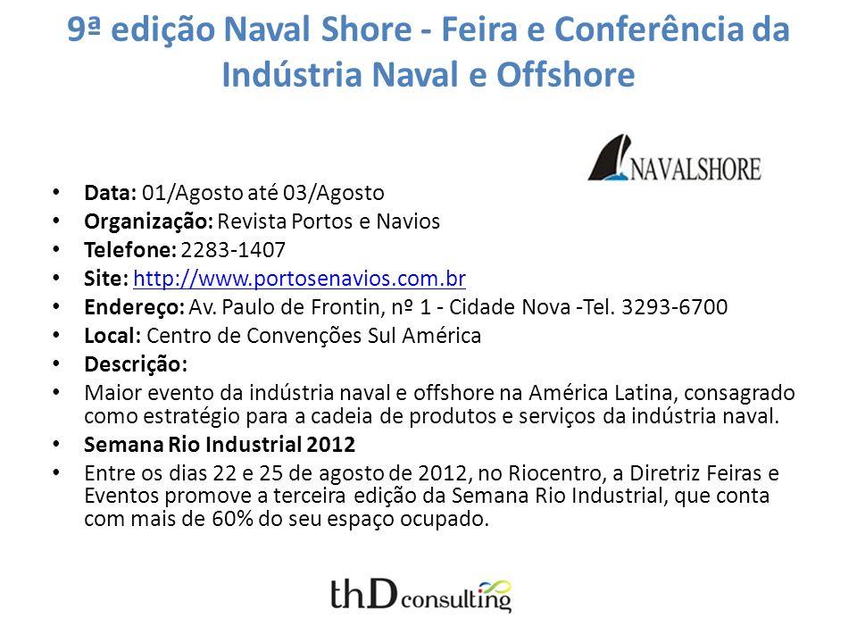 9ª edição Naval Shore - Feira e Conferência da Indústria Naval e Offshore
