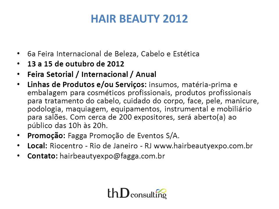 HAIR BEAUTY 2012 6a Feira Internacional de Beleza, Cabelo e Estética