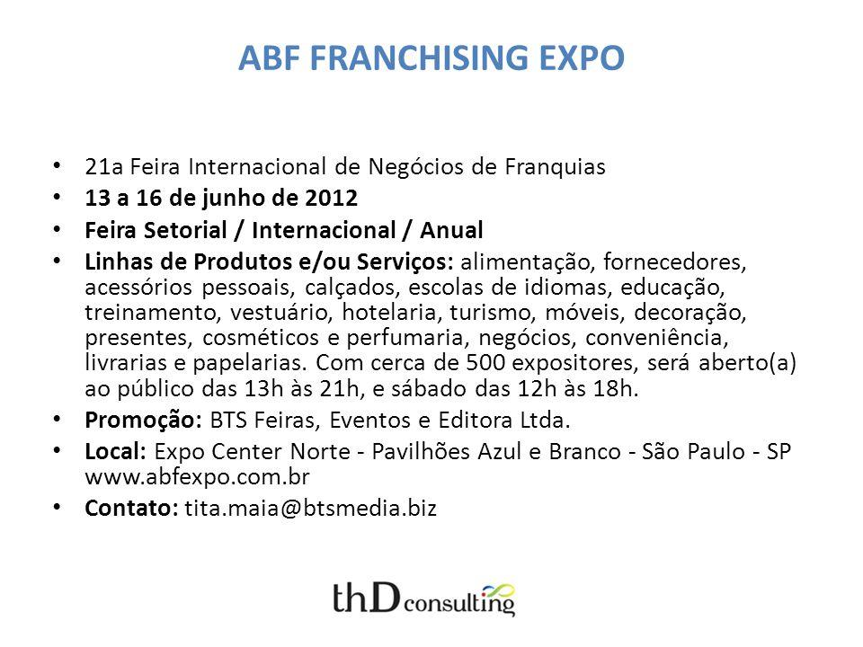 ABF FRANCHISING EXPO 21a Feira Internacional de Negócios de Franquias