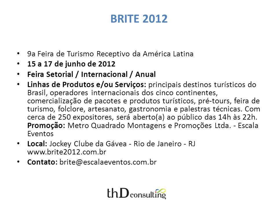 BRITE 2012 9a Feira de Turismo Receptivo da América Latina