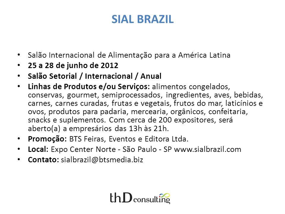 SIAL BRAZIL Salão Internacional de Alimentação para a América Latina