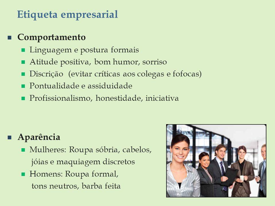 Etiqueta empresarial Comportamento Aparência