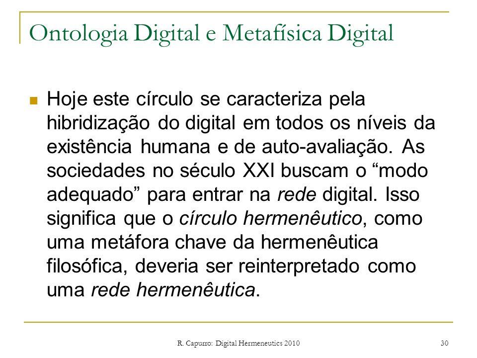 Ontologia Digital e Metafísica Digital
