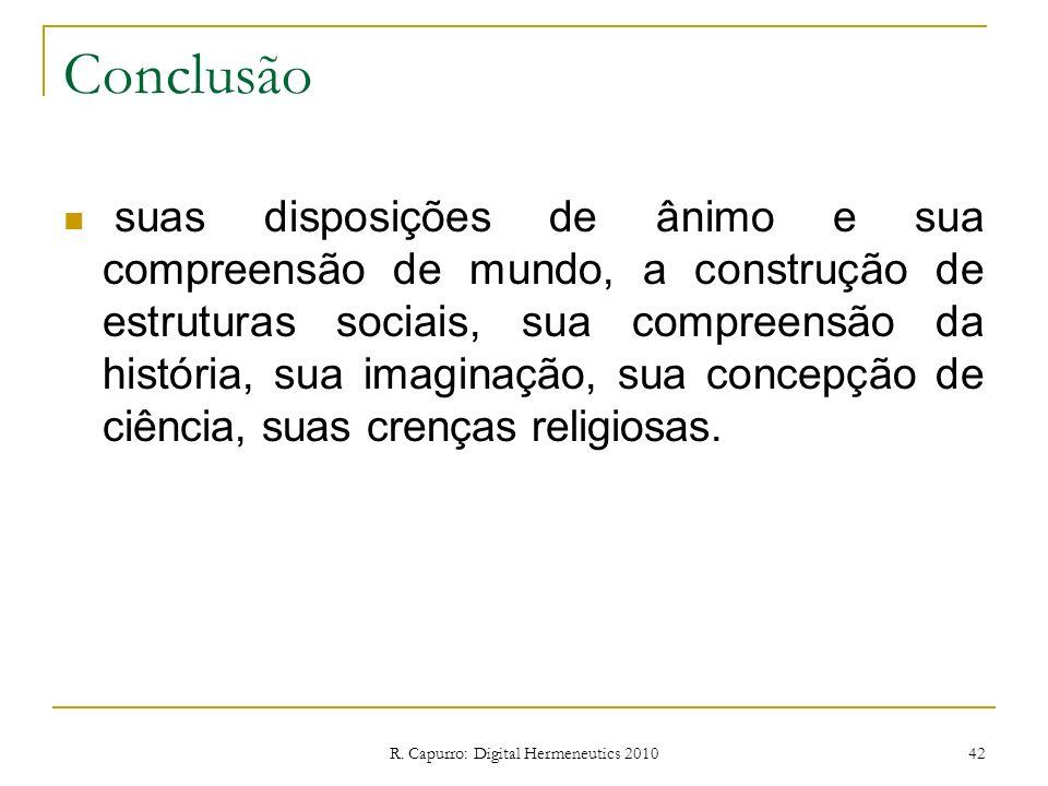 R. Capurro: Digital Hermeneutics 2010