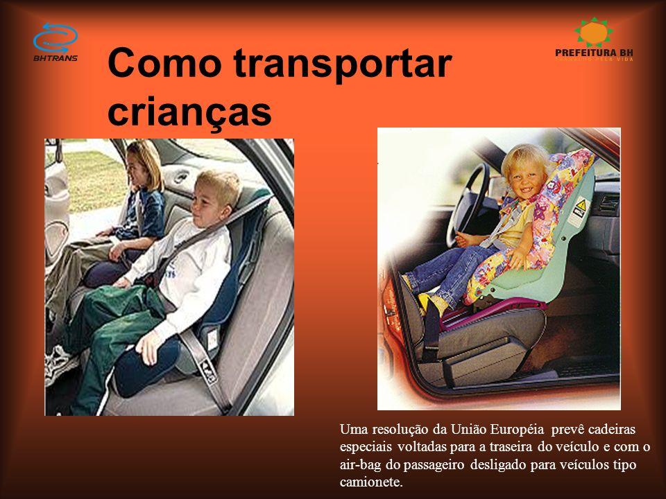 Como transportar crianças
