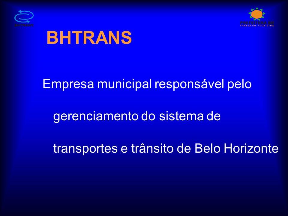 BHTRANS Empresa municipal responsável pelo gerenciamento do sistema de transportes e trânsito de Belo Horizonte.