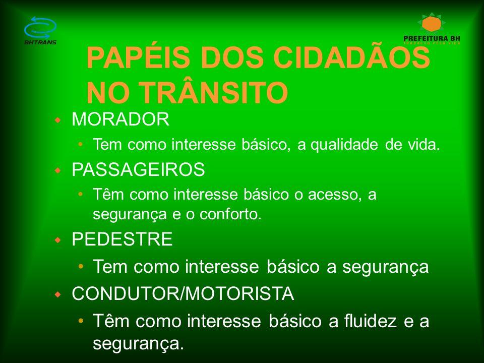 PAPÉIS DOS CIDADÃOS NO TRÂNSITO