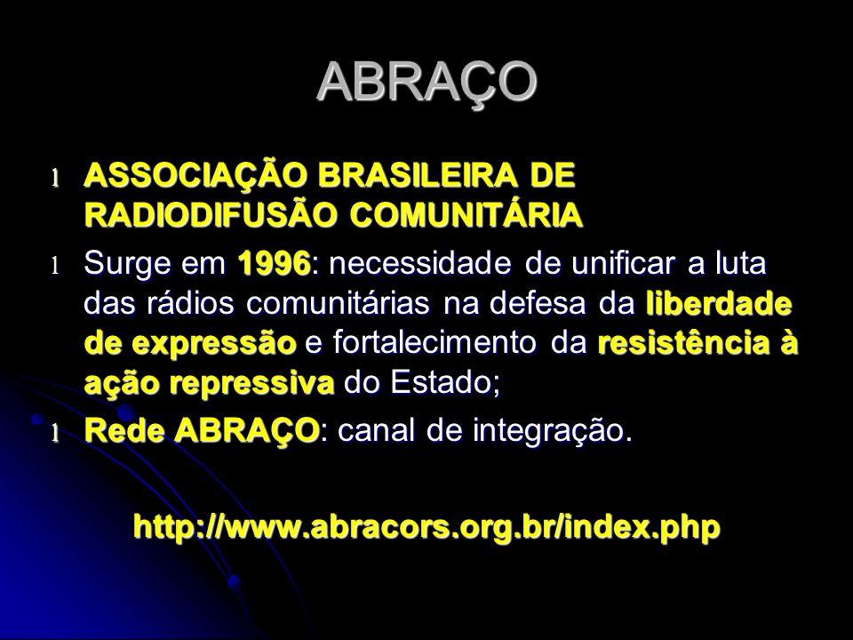 ABRAÇO ASSOCIAÇÃO BRASILEIRA DE RADIODIFUSÃO COMUNITÁRIA