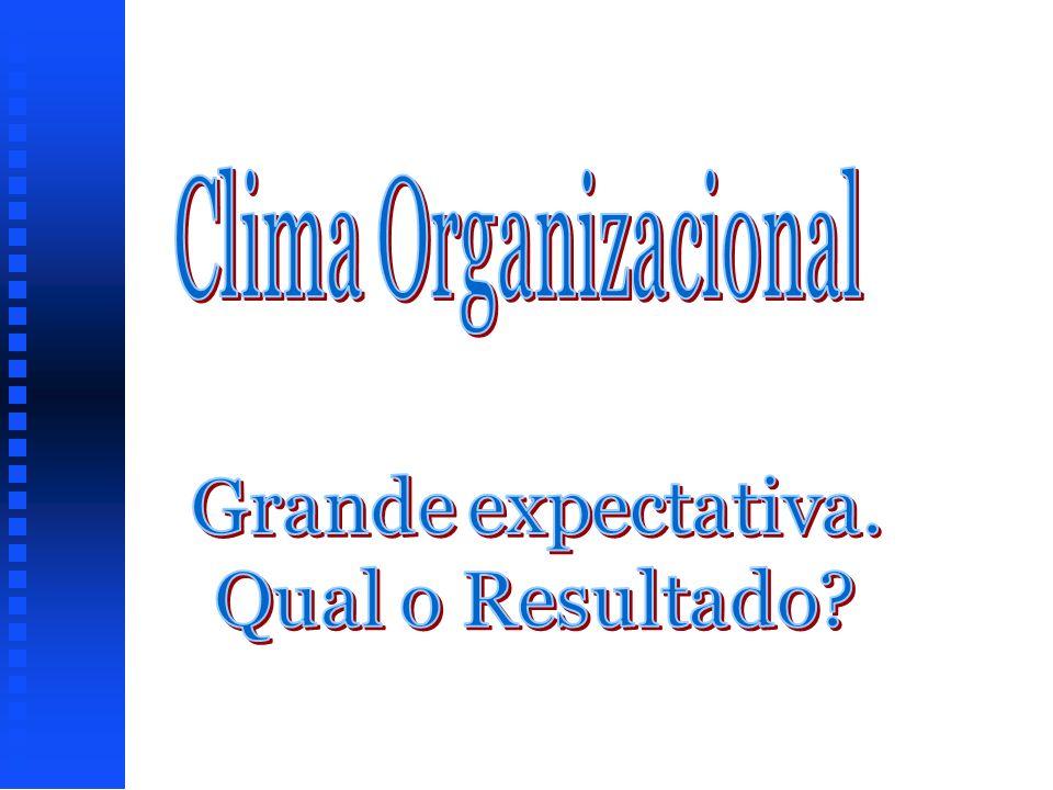 Clima Organizacional Grande expectativa. Qual o Resultado