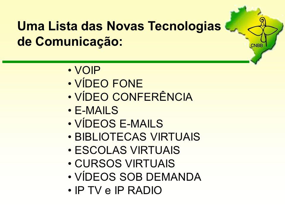 Uma Lista das Novas Tecnologias de Comunicação: