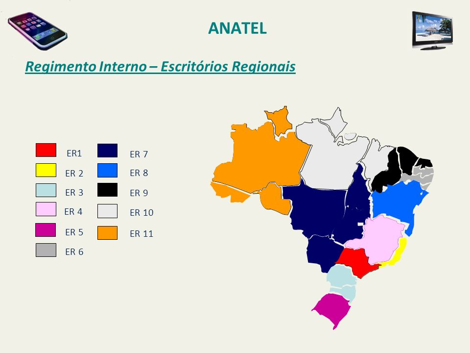 ANATEL Regimento Interno – Escritórios Regionais ER1 ER 7 ER 2 ER 8