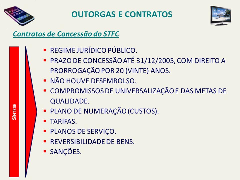 OUTORGAS E CONTRATOS Contratos de Concessão do STFC
