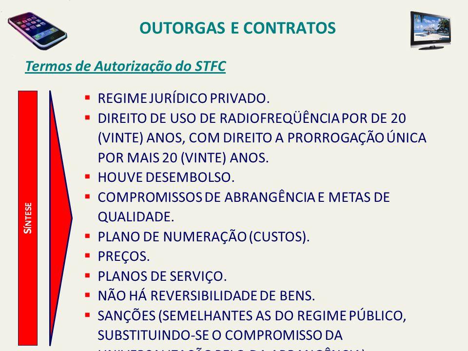 OUTORGAS E CONTRATOS Termos de Autorização do STFC