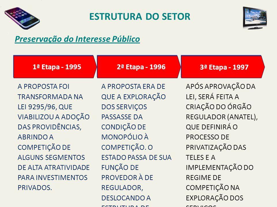 ESTRUTURA DO SETOR Preservação do Interesse Público 1ª Etapa - 1995