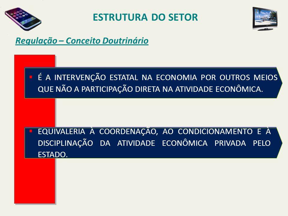 ESTRUTURA DO SETOR Regulação – Conceito Doutrinário