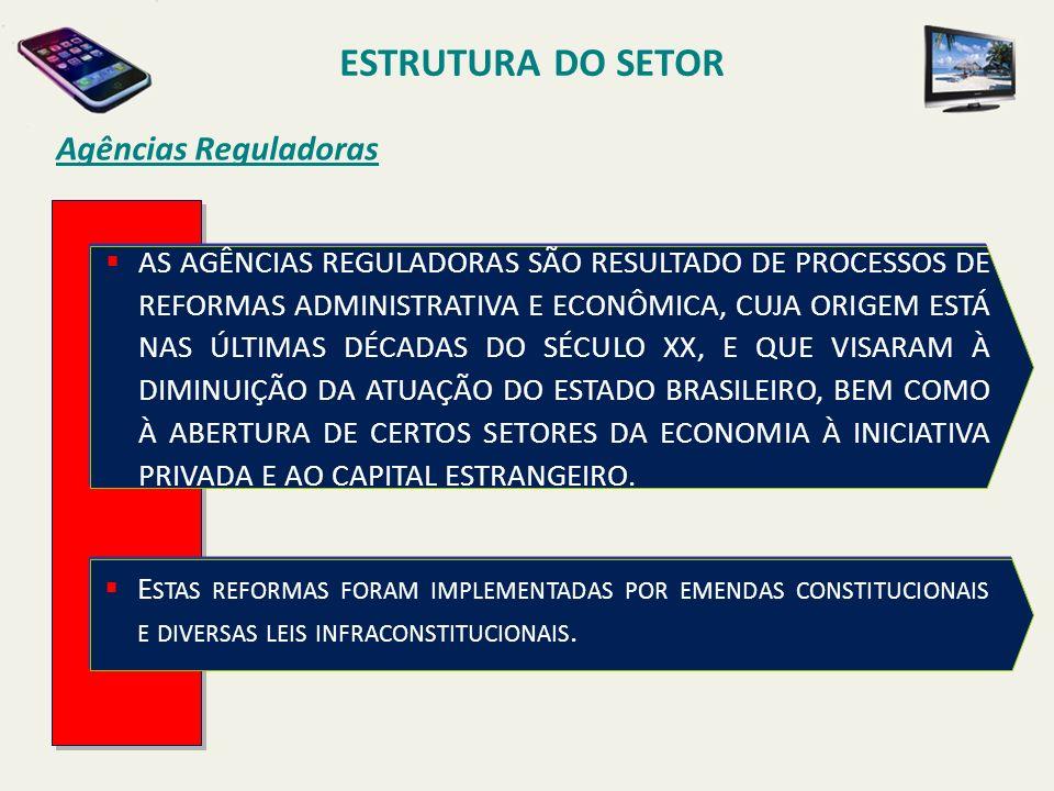ESTRUTURA DO SETOR Agências Reguladoras