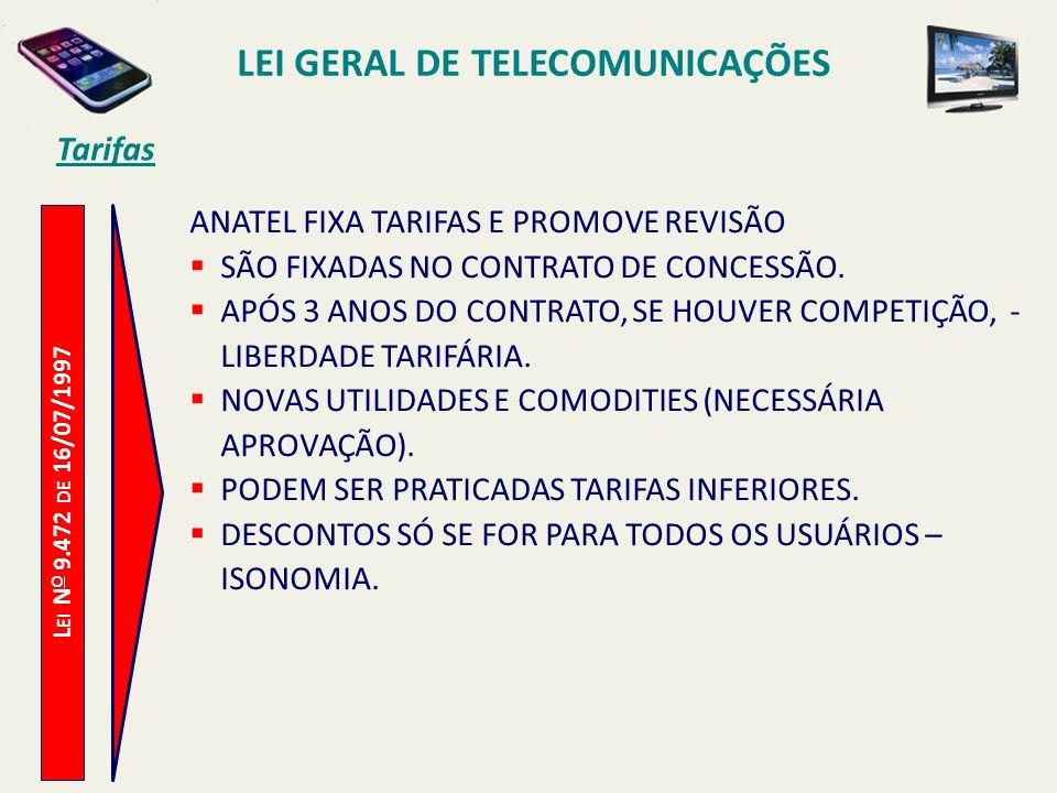 LEI GERAL DE TELECOMUNICAÇÕES