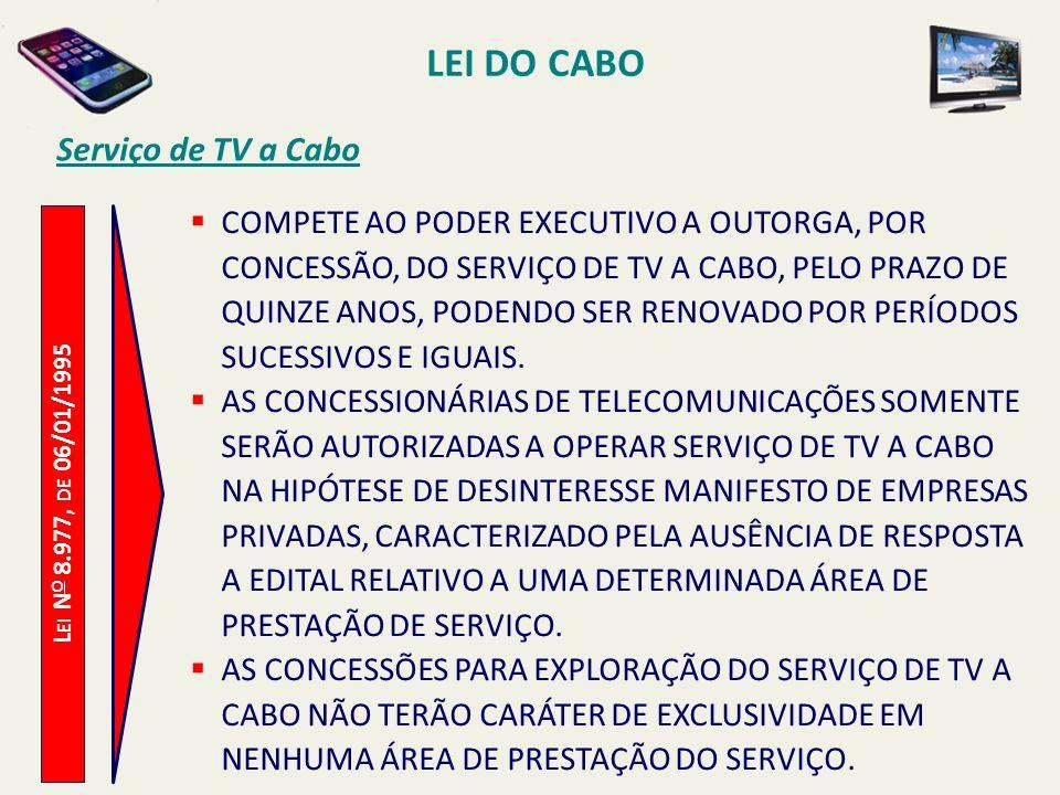 LEI DO CABO Serviço de TV a Cabo