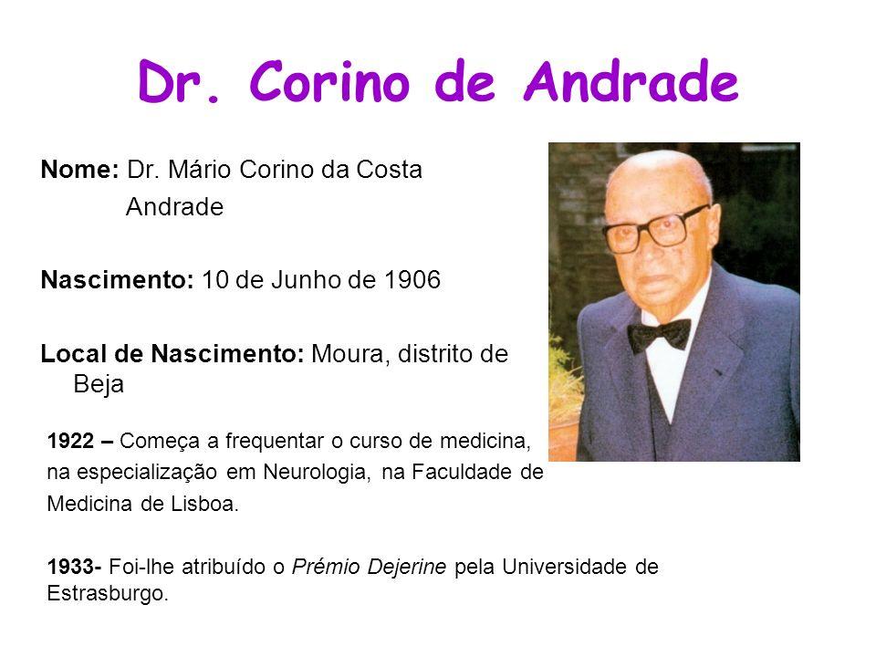 Dr. Corino de Andrade Nome: Dr. Mário Corino da Costa Andrade