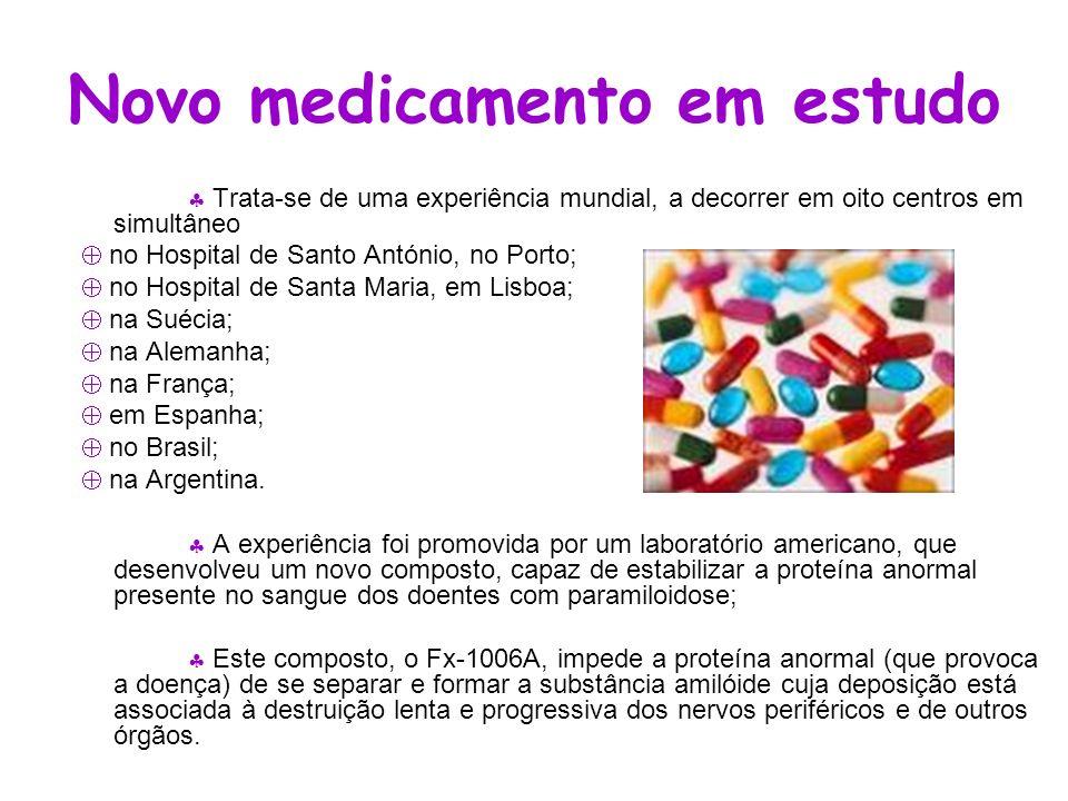 Novo medicamento em estudo
