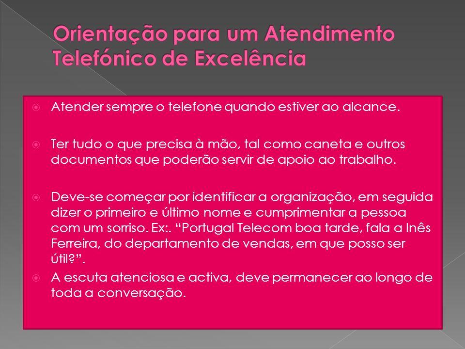Orientação para um Atendimento Telefónico de Excelência