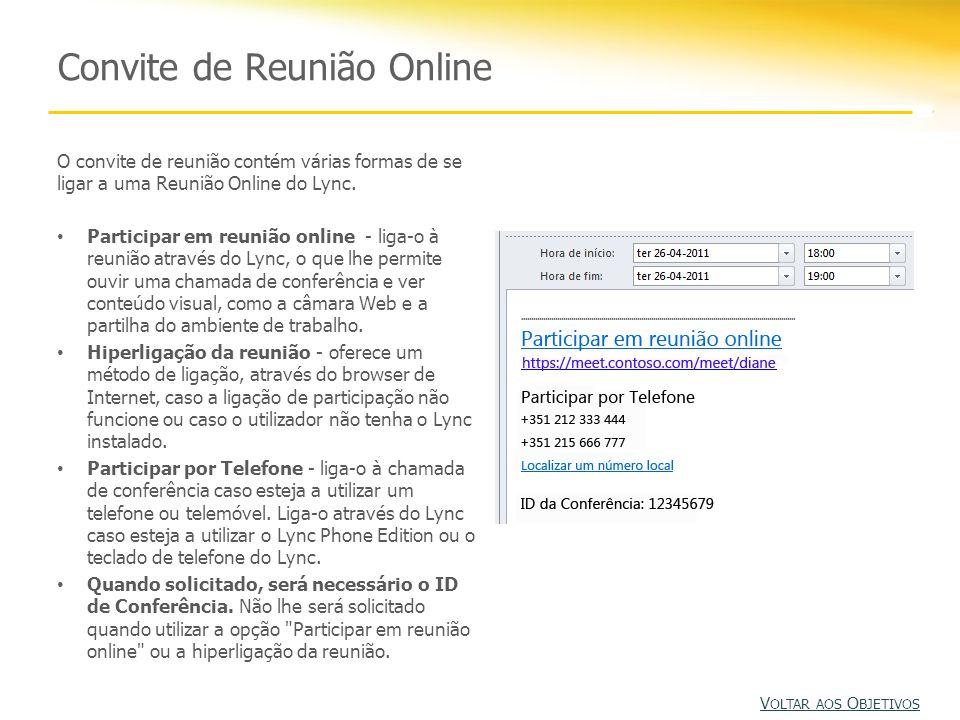 Convite de Reunião Online