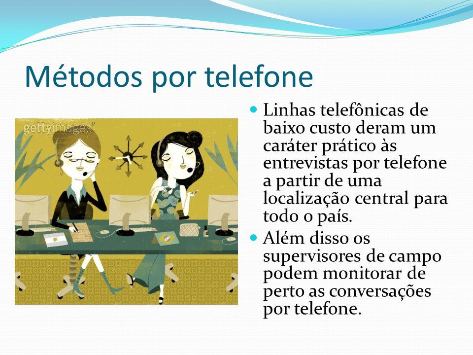 Métodos por telefone