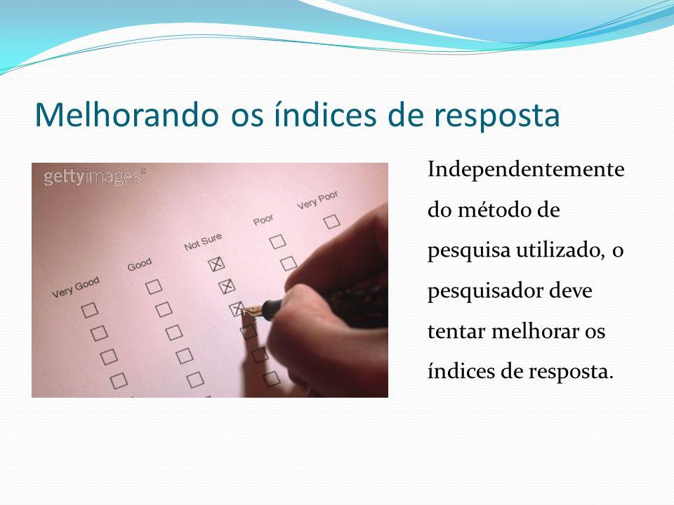 Melhorando os índices de resposta