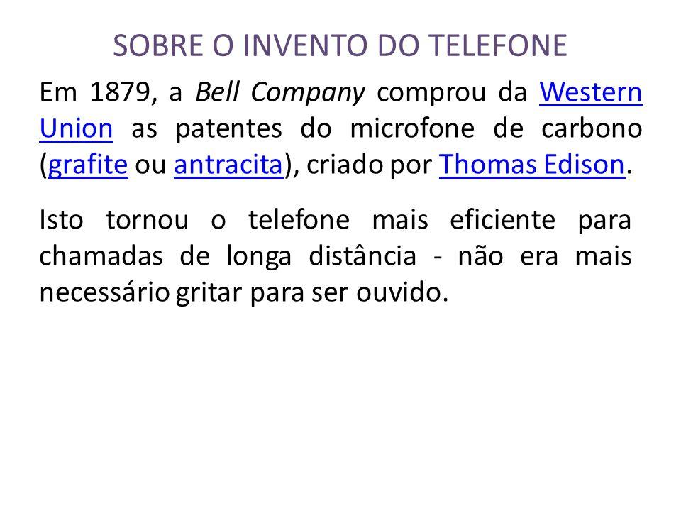 SOBRE O INVENTO DO TELEFONE