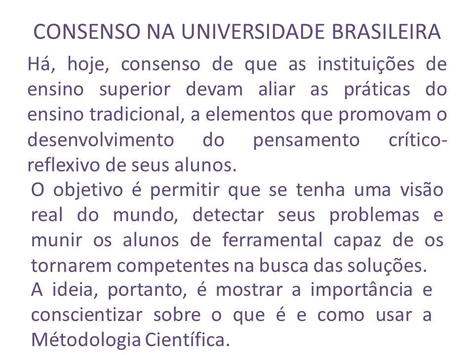 CONSENSO NA UNIVERSIDADE BRASILEIRA