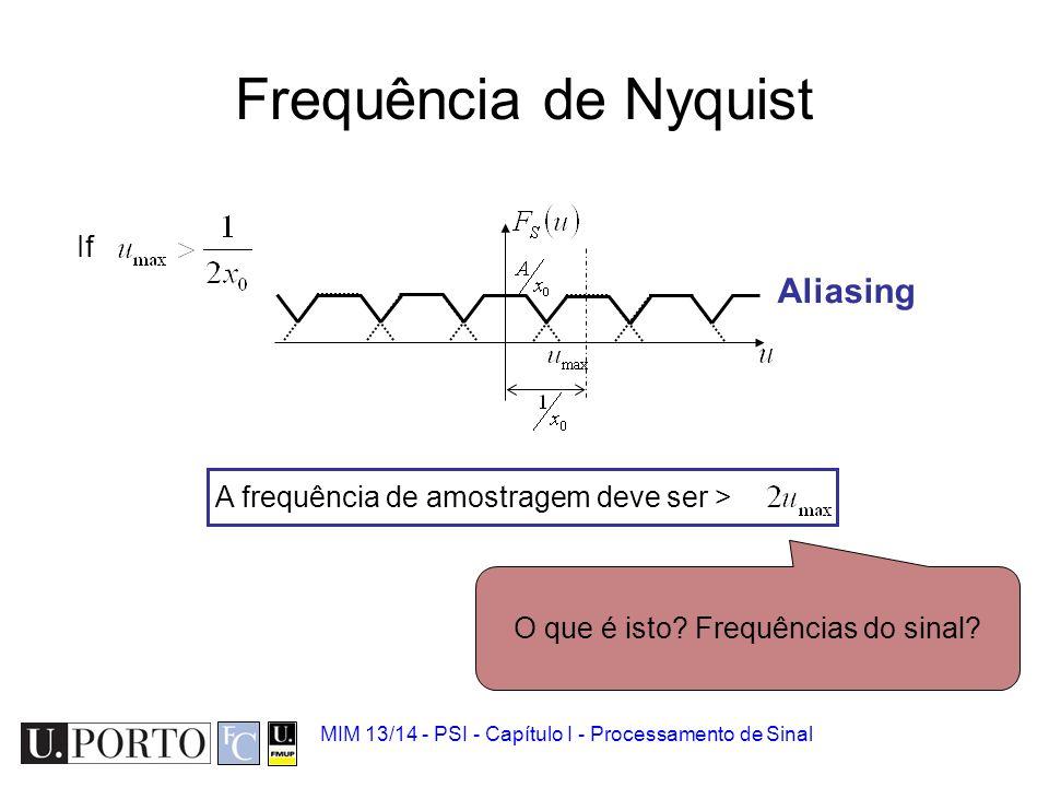 O que é isto Frequências do sinal