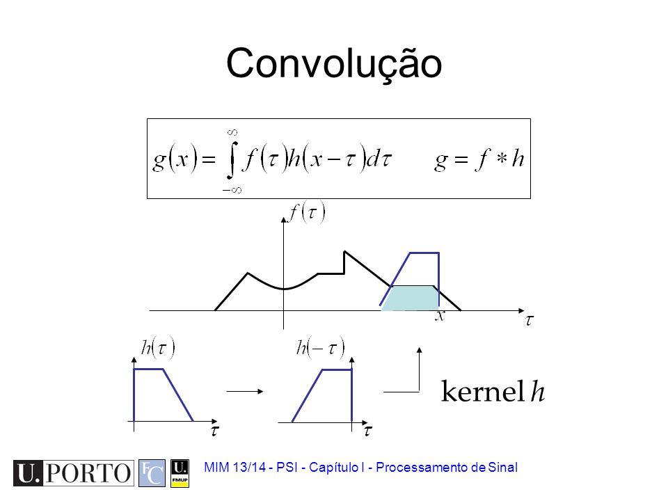 Convolução kernel h MIM 13/14 - PSI - Capítulo I - Processamento de Sinal