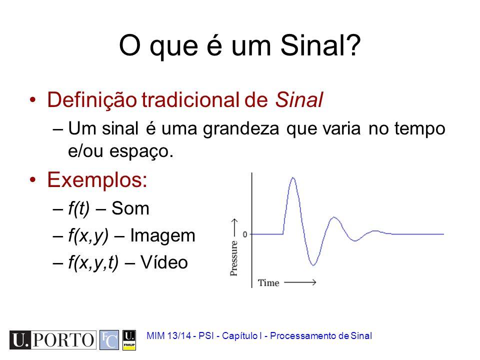 O que é um Sinal Definição tradicional de Sinal Exemplos: