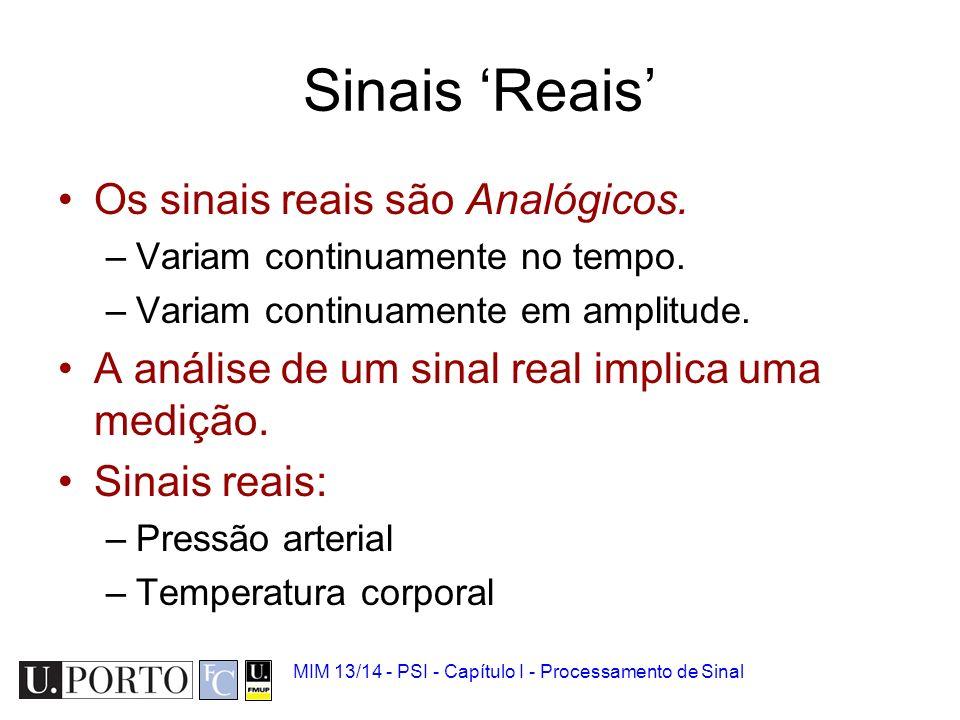 Sinais 'Reais' Os sinais reais são Analógicos.