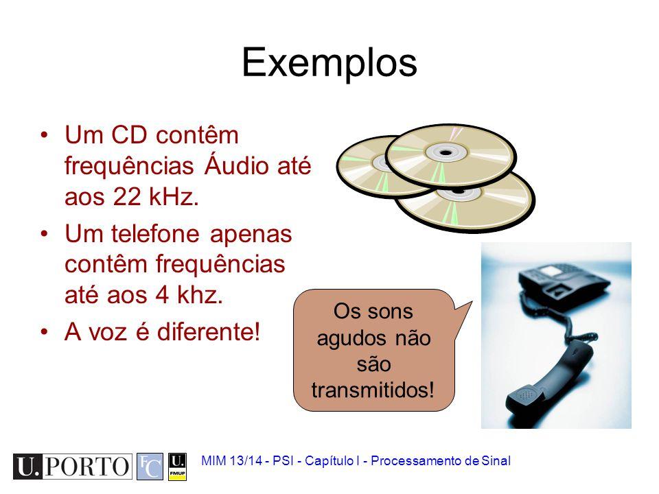 Os sons agudos não são transmitidos!