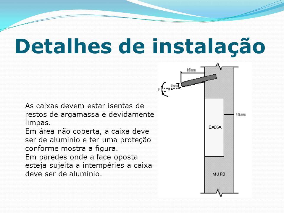 Detalhes de instalação