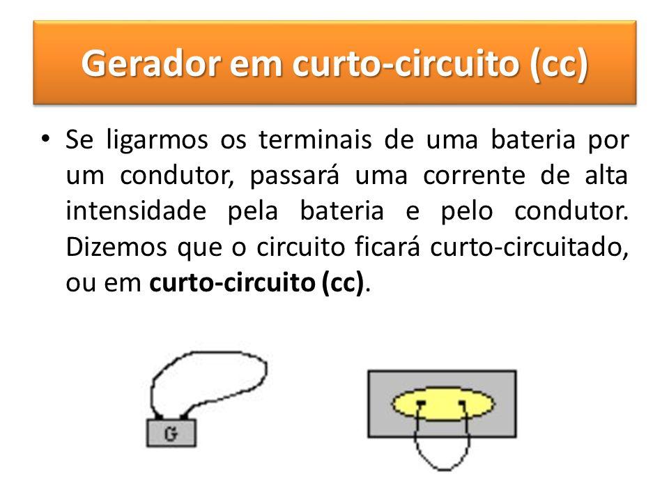 Gerador em curto-circuito (cc)