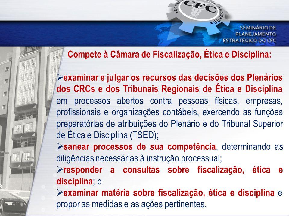 Compete à Câmara de Fiscalização, Ética e Disciplina: