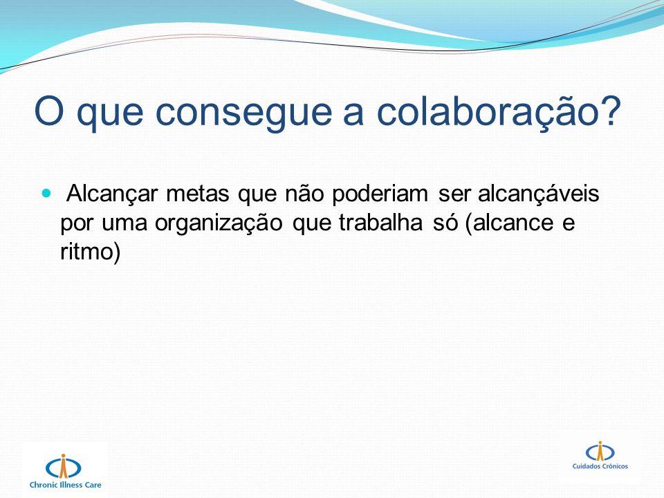 O que consegue a colaboração