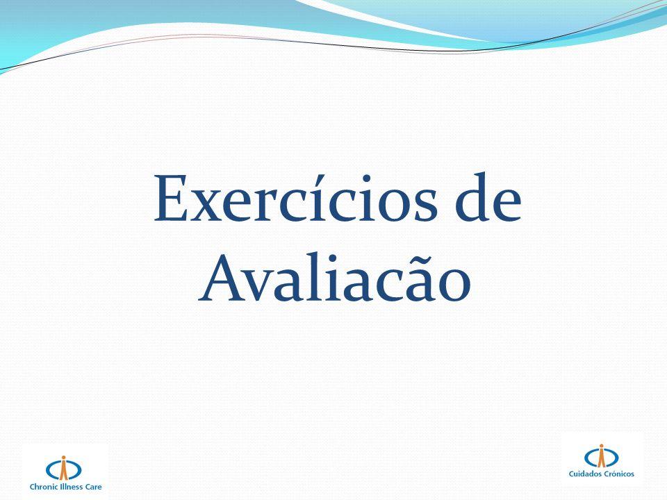 Exercícios de Avaliacão
